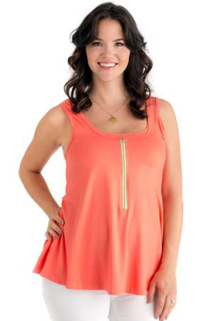 Molly Ades Flutter Nursing Tank (Coral) by Molly Ades