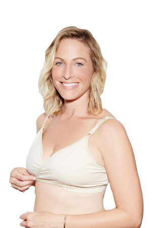 The Arden All-in-One Nursing & Handsfree Pumping Bra (Naked Creme) by Dairy Fairy