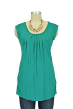 Spring Maternity Briar Cap Sleeve Drape Nursing Top (Green) by Spring Maternity