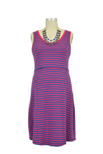 Spring Maternity Patience Skater Nursing Dress (Red Stripe) by Spring Maternity