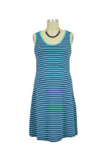 Spring Maternity Patience Skater Nursing Dress (Mint Stripe) by Spring Maternity