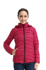 Spring Maternity Belle Hooded Down 3-in-1 Maternity Jacket (Magenta) by Spring Maternity
