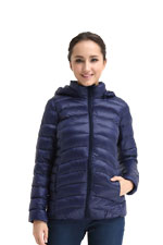 Spring Maternity Belle Hooded Down 3-in-1 Maternity Jacket (Navy) by Spring Maternity