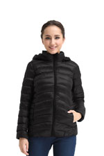 Spring Maternity Belle Hooded Down 3-in-1 Maternity Jacket (Black) by Spring Maternity
