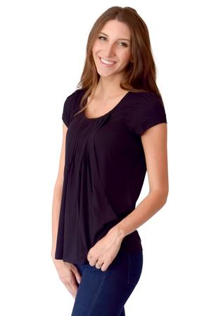 Sophie & Eve Safia Bamboo Pleated Nursing Top by Sophie & Eve