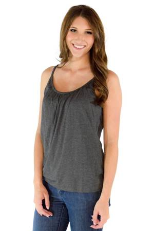 Sophie & Eve Jade Bamboo Nursing Cami (Dark Heather Grey) by Sophie & Eve