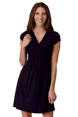 Sophie & Eve Charlotte Short-Sleeve Bamboo Wrap Maternity & Nursing Dress by Sophie & Eve