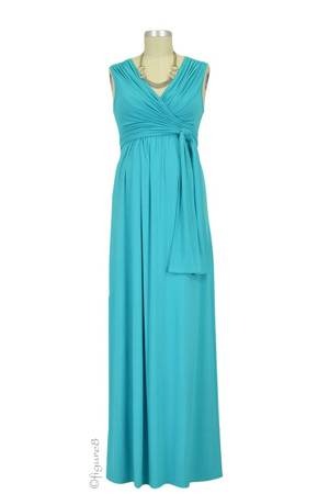 Sophie & Eve Charlotte Bamboo Maxi Nursing Dress (Mediterranean) by Sophie & Eve
