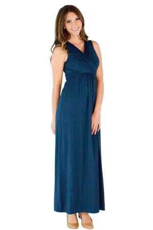 Sophie & Eve Charlotte Bamboo Maxi Nursing Dress (Midnight Forest) by Sophie & Eve