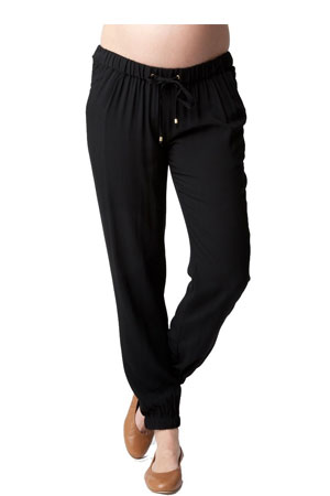 Chic Jogger Maternity Pant (Black) by Ripe Maternity