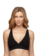 Yummie Tummie Mallory Seamless Racer Back Sleep Bra (Black) by Yummie Tummie