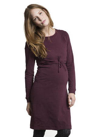 Boob Design B-Warmer Nursing Dress (Burgundy Red) by Boob Design