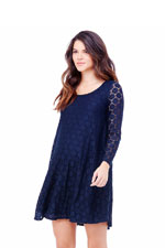 Ingrid & Isabel Dot Lace Maternity Dress (True Navy) by Ingrid & Isabel