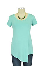 Liz Asymmetrical Cross Over Nursing Top (Spring Green) by Baju Mama