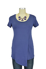 Liz Asymmetrical Cross Over Nursing Top (Blueberry) by Baju Mama
