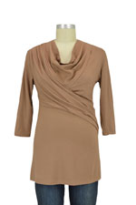 Soren Drape & Wrap Nursing Top (Camel) by MEV