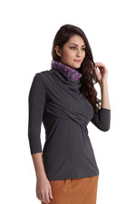 Soren Drape & Wrap Nursing Top (Heather Charcoal) by MEV