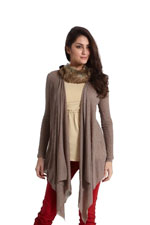 Quin Versatile Knitted Nursing Wrap (Heather Khaki) by MEV