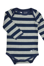 Painter Stripe Mom & Tot Onesie (Navy-Grey) by MEV
