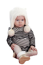 Ladder Stripes Long Sleeve Baby Onesie (Black-White) by MEV