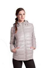 Vale 5-in-1 Lightweight Down Maternity Jacket (Grey) by Modern Eternity