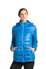Vale 5-in-1 Lightweight Down Maternity Jacket (Blue) by Modern Eternity