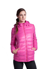 Vale 5-in-1 Lightweight Down Maternity Jacket (Raspberry) by Modern Eternity