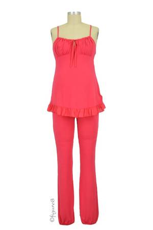 Delicious Maternity & Breastfeeding Pajama Set (Grenadine) by Cache Coeur Lingerie