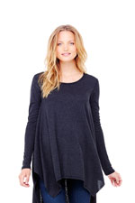 Ingird & Isabel Handkerchief  Maternity Tunic (Dark Heather Grey) by Ingrid & Isabel