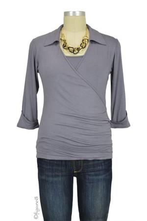Erin Nursing Top (Grey) by Dote