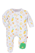 Magnificent Baby Girl's Footie (Oranges & Lemons) by Magnificent Baby