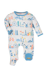 Magnificent Baby Boy's Footie (World Cities) by Magnificent Baby