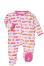 Magnificent Baby Girl's Footie (Girl Hippo) by Magnificent Baby