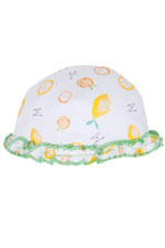 Magnificent Baby Reversible Baby Girl Cap (Oranges & Lemons) by Magnificent Baby