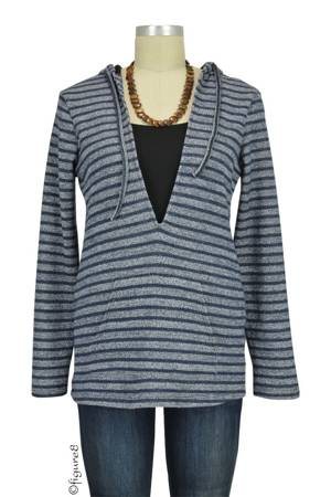 Evie Striped Terry Nursing Hoodie (Grey Stripes) by Annee Matthew