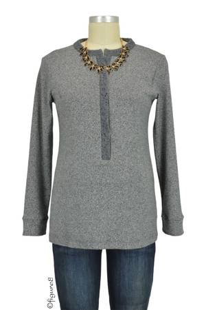 April Marled Nursing Top (Marle Grey) by Annee Matthew