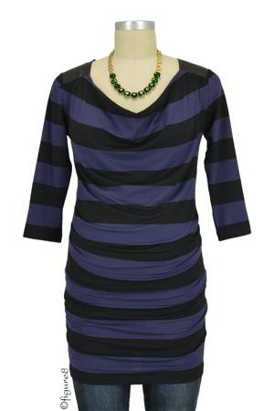 Seraphine Amity Maternity Top (Blue & Black Stripes) by Seraphine