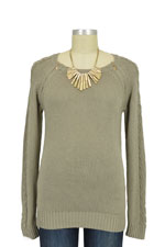 Seraphine Kaylin Cable Knit Detail Nursing Sweater (Almond) by Seraphine