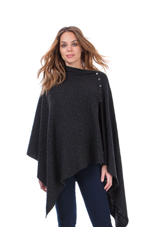 Seraphine Caleb Cable Knit Nursing Shawl (Charcoal) by Seraphine