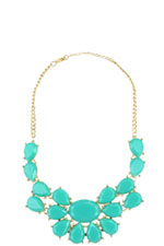 Oversized Turquoise Stone Necklace (Turquoise) by Jewelry Accessories