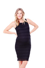 Ingrid & Isabel Sleeveless Lace Maternity Dress (Jet Black) by Ingrid & Isabel