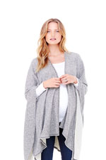Ingrid & Isabel Cozy Wrap (Heather Grey) by Ingrid & Isabel