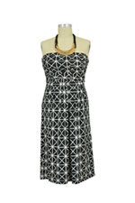Milky Way Astoria Lush Tube Nursing Dress (Black & White Geometric) by Milky Way