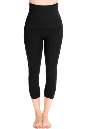 Mother Tucker Capri Leggings by Belly Bandit (Black) by Belly Bandit