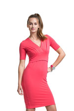 Boob Designs Sophie Short Sleeve Nursing Dress (Red) by Boob