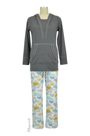 Cloud 9 Nursing Hoodie & Sweatpant PJ Set (Cloud Print) by Sophie & Eve