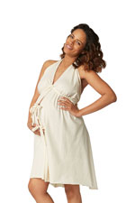 Pretty Pushers Unbleached Cotton Jersey Labor Gown (Cream) by Pretty Pushers