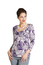 Milky Way Colombo Knot Front Nursing Top (Purple Print) by Milky Way