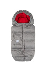 7 am Enfant Blanket 212e - Fleece Lined (Heather Grey/ Red Fleece) by 7 A.M. Enfant