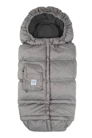 7 am Enfant Blanket 212e - Fleece Lined (Heather Grey/Grey Fleece) by 7 A.M. Enfant